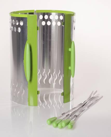 Шашлычница электрическая Kitfort KT-1402 зеленый - фото 5