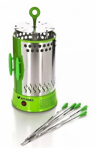 Шашлычница электрическая Kitfort KT-1402 зеленый - фото 2