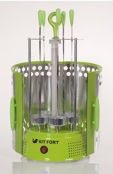 Шашлычница электрическая Kitfort KT-1402 зеленый - фото 4