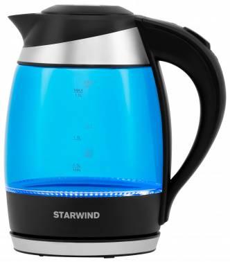 Чайник электрический Starwind SKG2216 синий / черный