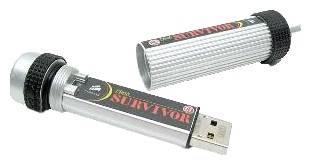 Флеш диск 8Gb Corsair Survivor CMFUSBRVR-8GB USB2.0 серый черный