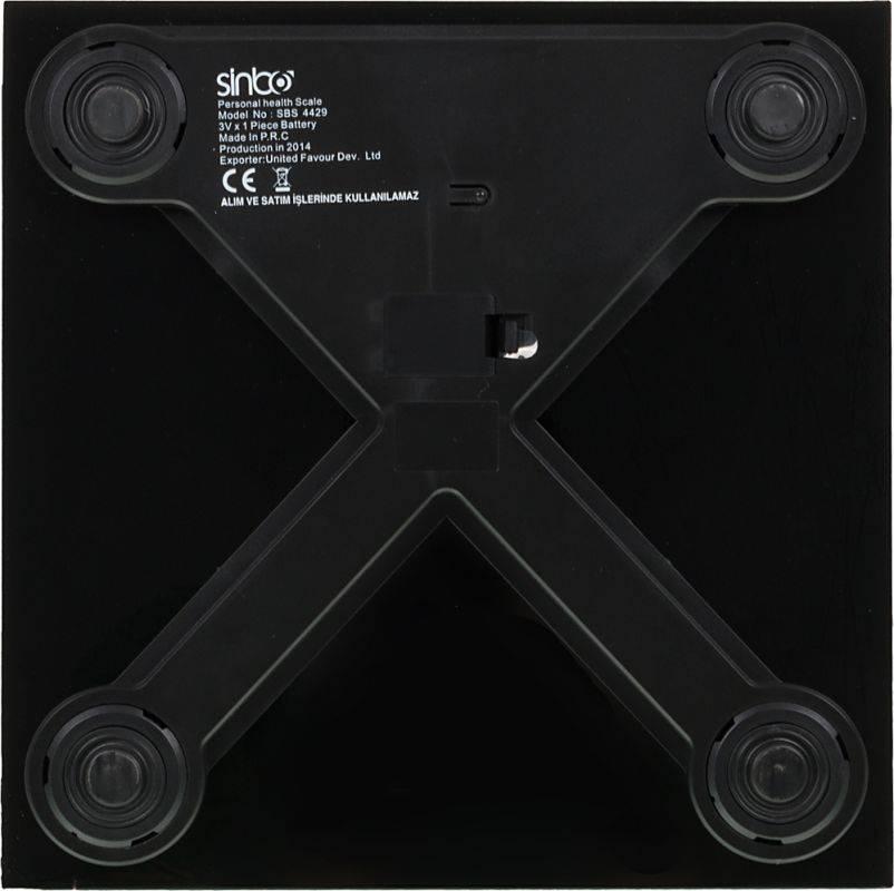 Весы напольные электронные Sinbo SBS 4429 черный - фото 3