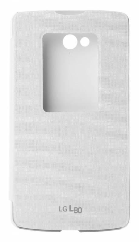 Чехол LG QuickWindow, для LG L80, белый (CCF-510.AGRAWH) - фото 1
