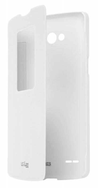 Чехол LG QuickWindow, для LG L80, белый (CCF-510.AGRAWH) - фото 3