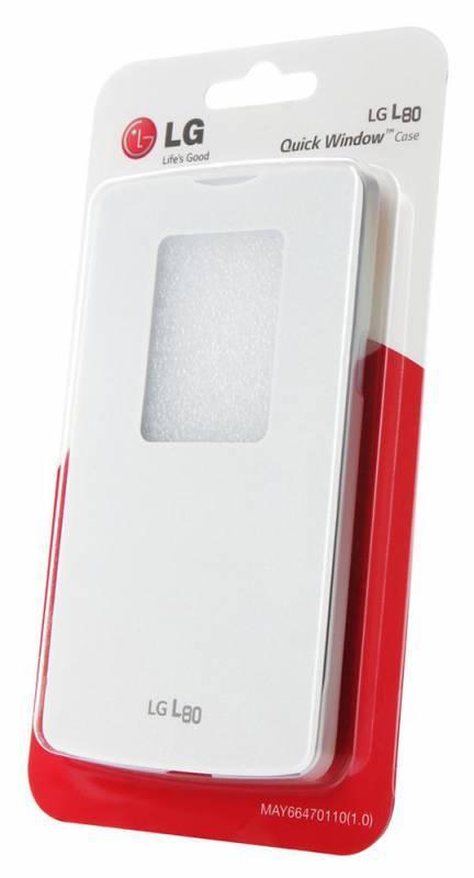 Чехол LG QuickWindow, для LG L80, белый (CCF-510.AGRAWH) - фото 4