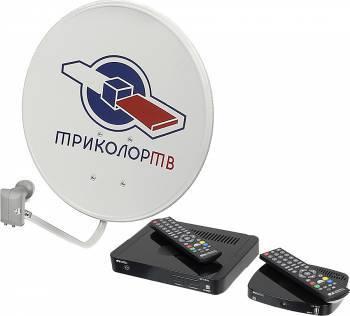 """Комплект спутникового телевидения Триколор GS E501 + GS C591 """"Европа"""" (комплект на 2 ТВ) черный (HTB3520G/51)"""