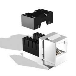 Модуль Brand-Rex GPCJAKU013LF информационный KeystoneRJ45 кат.5E бел. (упак.:1шт)