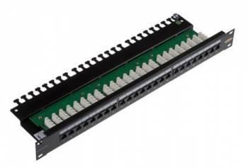 "Патч-панель Brand-Rex 110 style C6CPNLU24012M 19"" 1U 24xRJ45"