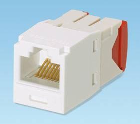 Модуль информационный Panduit CJ5E88TGAW Mini-Com RJ45 кат.5e белый - фото 1