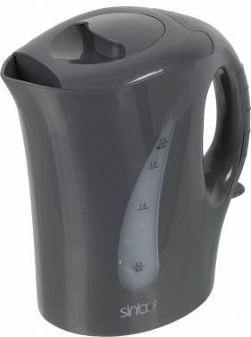 Чайник электрический Sinbo SK 2376 серый, объём 1.7л, мощность 2000Вт, материал корпуса: пластик