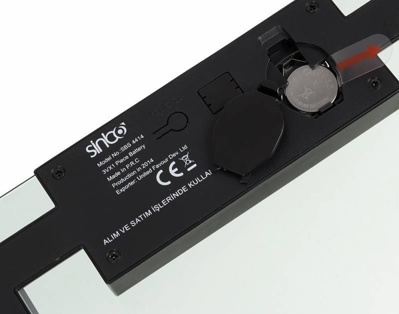 Весы напольные электронные Sinbo SBS 4414 серебристый/черный - фото 3