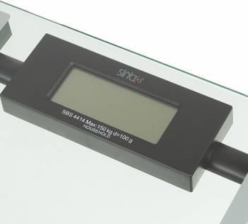 Весы напольные электронные Sinbo SBS 4414 серебристый/черный