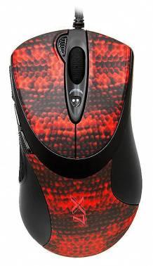 Мышь A4 XL-740K черный / красный