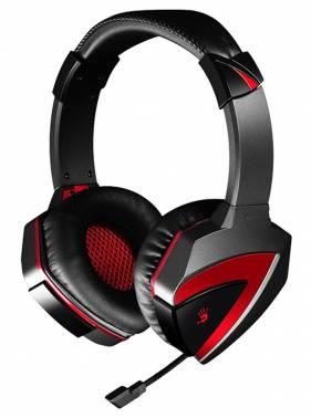Наушники с микрофоном A4 Bloody G500 черный/красный (A4TECH G500)