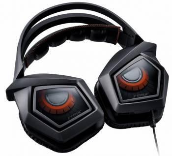 Наушники с микрофоном Asus Strix Pro черный/красный (90YH00B1-M8UA00)