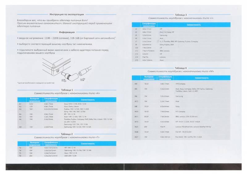 Блок питания для ноутбука Buro BUM-1284B90 черный - фото 9