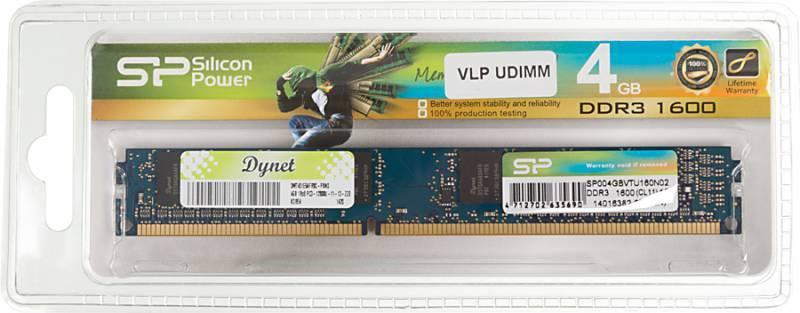 Модуль памяти DIMM DDR3 4Gb Silicon Power SP004GBVTU160(N02) - фото 1