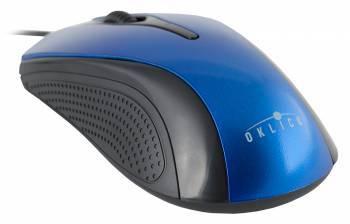 Мышь Oklick 215M черный / синий