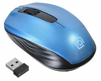 Мышь Oklick 475MW черный/синий (TM-1500 black/blue)