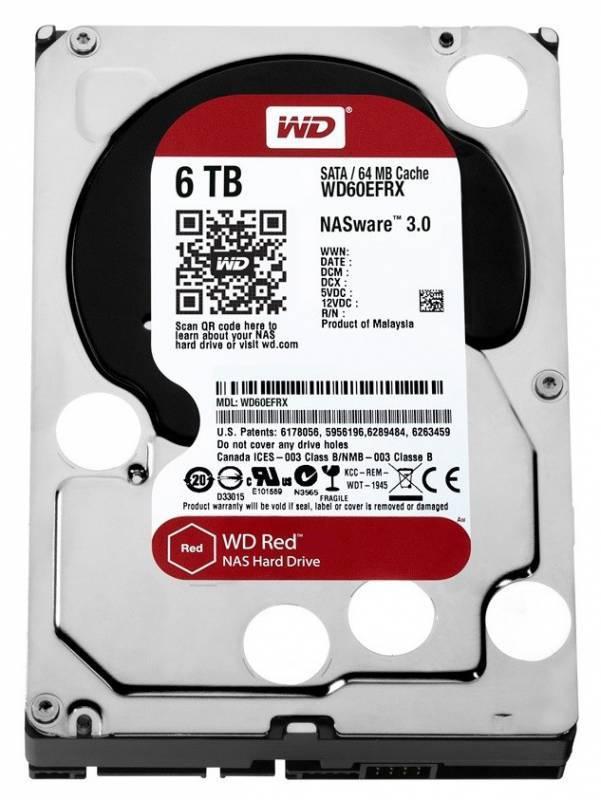 Жесткий диск 6Tb WD Red WD60EFRX SATA-III - фото 1