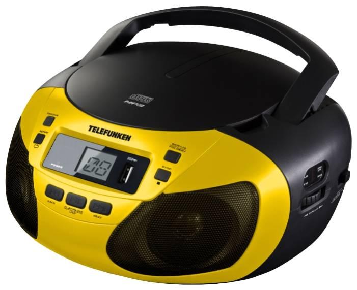 Магнитола Telefunken TF-CSRP3447  желтый - фото 1
