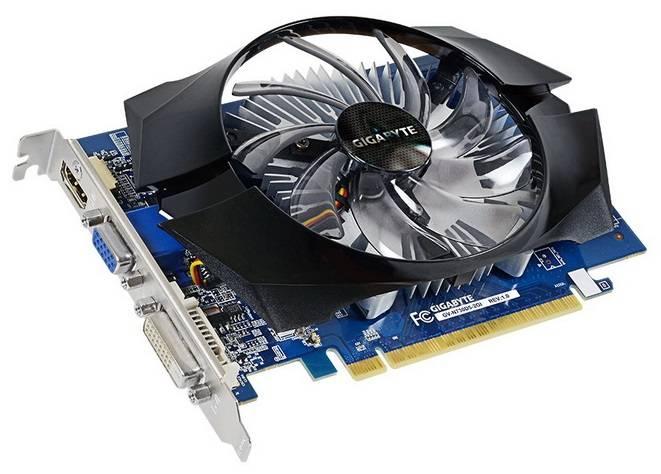 Видеокарта Gigabyte GeForce GT 730 2048 МБ (GV-N730D5-2GI) - фото 1