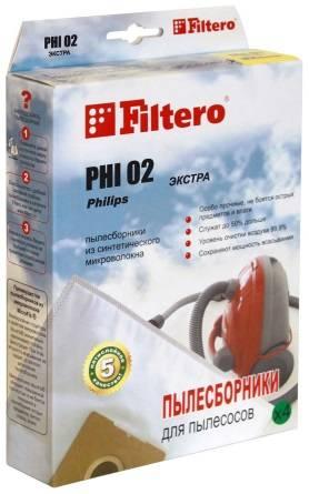 Пылесборники Filtero PHI 02 Экстра - фото 1