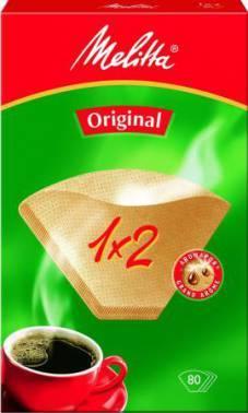 Фильтры для кофе для кофеварок капельного типа Filtero №2 коричневый, в упаковке 80шт. (№2/80)