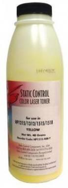 Тонер для принтера Static Control HP1515-40B-Y желтый 40 грамм
