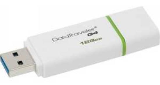 Флеш диск 128Gb Kingston DataTraveler G4 USB3.0 белый - фото 2