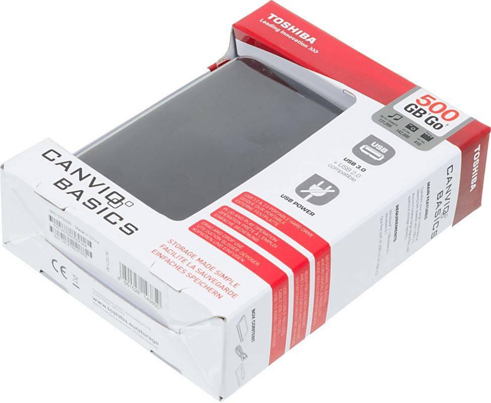Внешний жесткий диск 500Gb Toshiba HDTB305EK3AA Canvio Basics черный USB 3.0 - фото 5