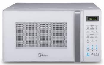 Микроволновая Печь Midea EG820CXX-W белый, мощность 800Вт, объем 20л, покрытие камеры эмаль легкой очистки Smart Clean, электронное управление