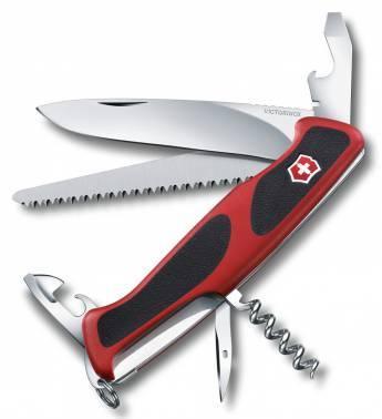 Нож со складным лезвием Victorinox RangerGrip 55 красный/черный (0.9563.CB1)