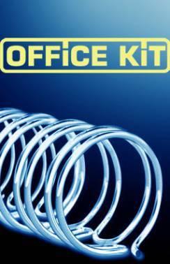 Пружины для переплета металлические Office Kit d=14.3мм100-120лист A4 черный (100шт) OKPM916B
