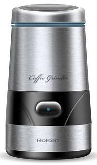 Кофемолка Rolsen RCG-152 серебристый - фото 1