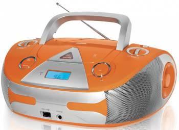 Магнитола BBK BX325U оранжевый / серебристый