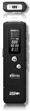 Диктофон 4Gb Ritmix RR-650 черный (15115380)