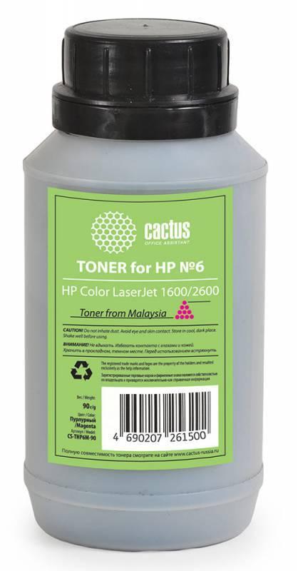 Тонер Cactus CS-THP6M-90 пурпурный 90грамм - фото 1