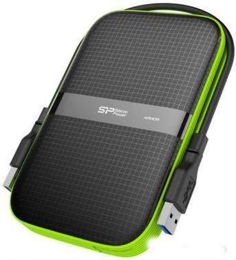 Внешний жесткий диск 1Tb Silicon Power Armor A60 SP010TBPHDA60S3K черный USB 3.0 (SP010TBPHDA60S3K)