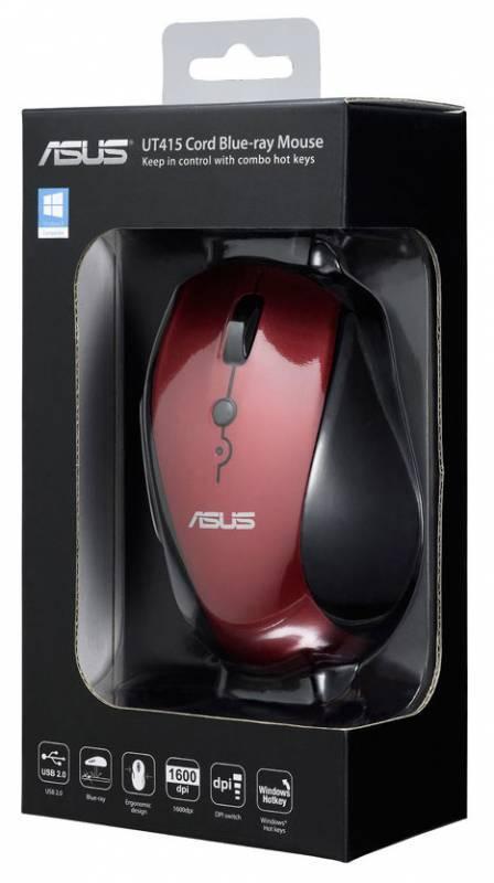 Компьютерная мышь ASUS UT415  оптическая USB красный - фото 6