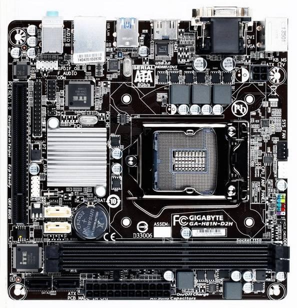 Материнская плата Soc-1150 Gigabyte GA-H81N-D2H mini-ITX - фото 2