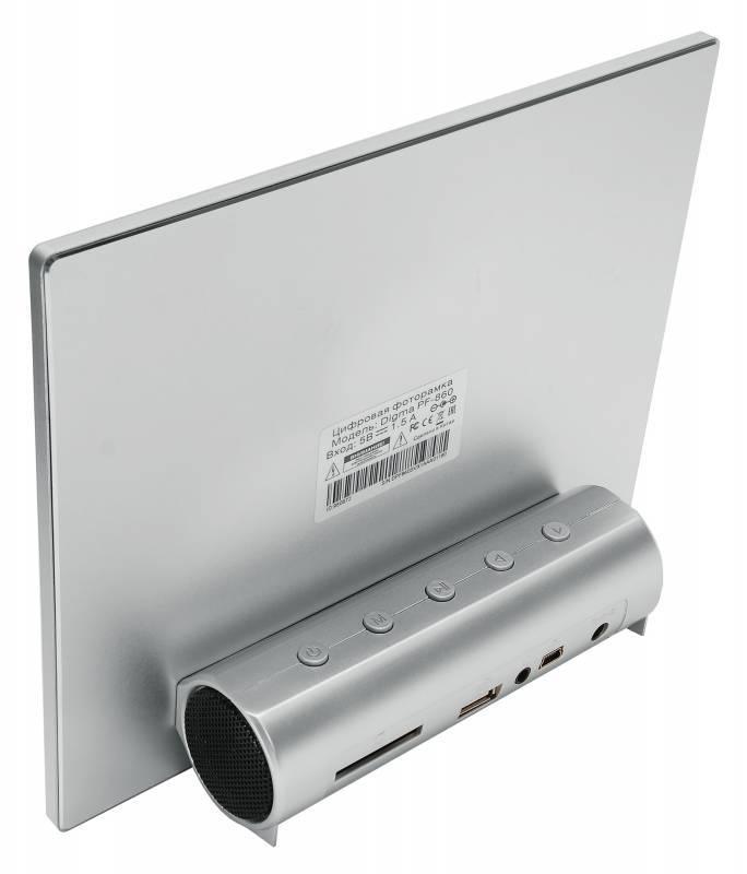 "Цифровая фоторамка 8"" Digma PF-860 серебристый - фото 3"