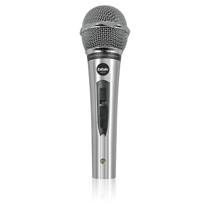 Микрофон BBK CM131 серебристый - фото 1