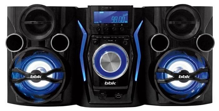 Минисистема BBK AMS110BT черный/темно-синий - фото 1