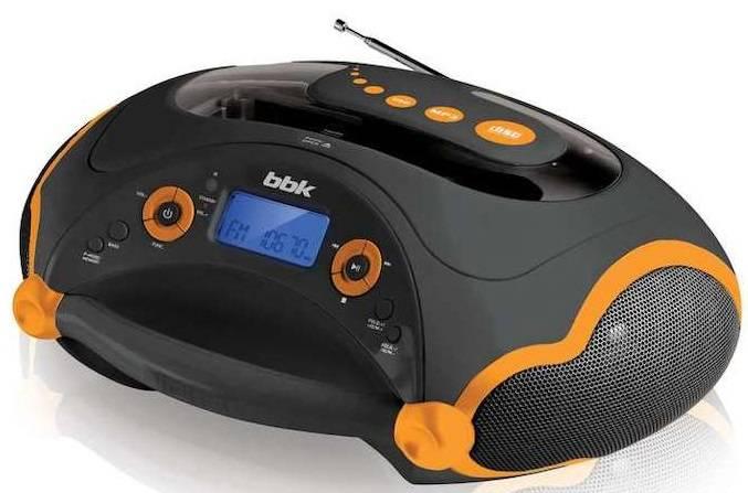 Магнитола BBK BX316U черный/оранжевый - фото 1