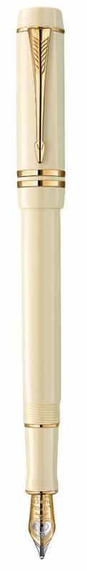 Ручка перьевая Parker Duofold Centennial Historical Colors Ivory GT (1907136) - фото 1