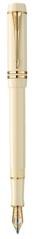 Ручка перьевая Parker Duofold F74 International Historical Colors Ivory GT (1907138) - фото 1