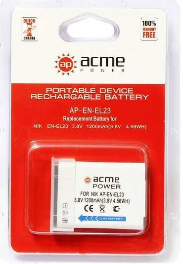 Аккумулятор для видеокамер AcmePower AP-EN-EL23 - фото 2
