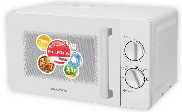 СВЧ-печь Supra MWS-2103MW белый - фото 1