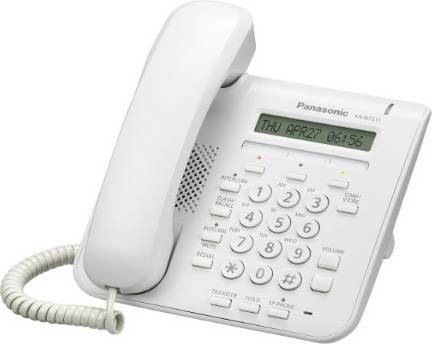 Телефон IP Panasonic KX-NT511ARUW белый - фото 1